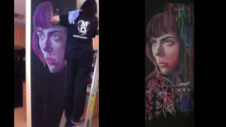 Ghost in the Shell — Chalk Art Time Lapse