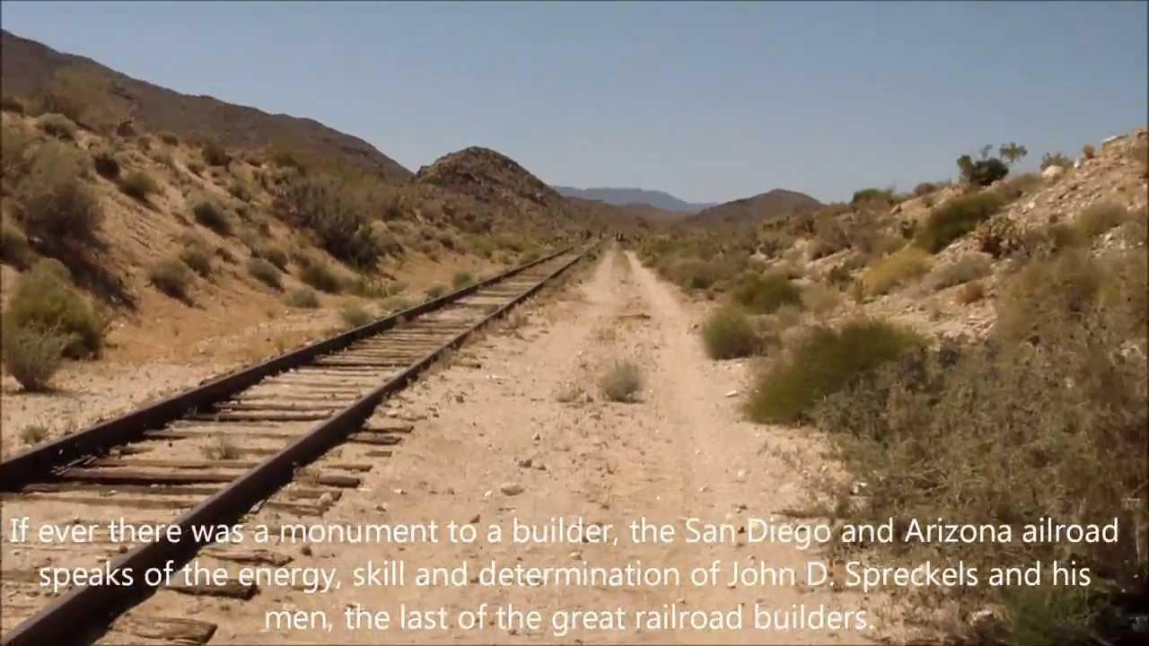 Dos Cabezas Siding Railroad In The Anza Borrego Desert