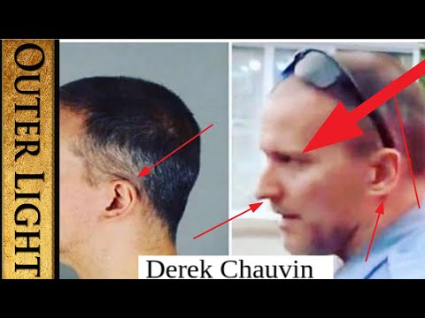 Something strange about Derek Chauvin's hairline and ears