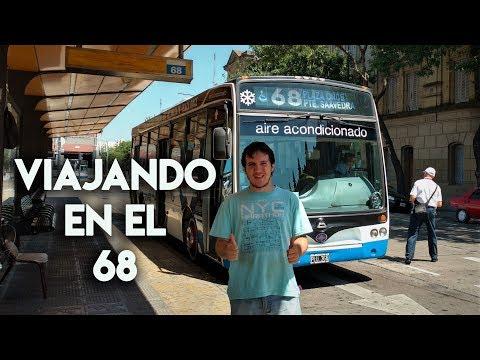 Viajando en la linea 68  Un colectivo de diez