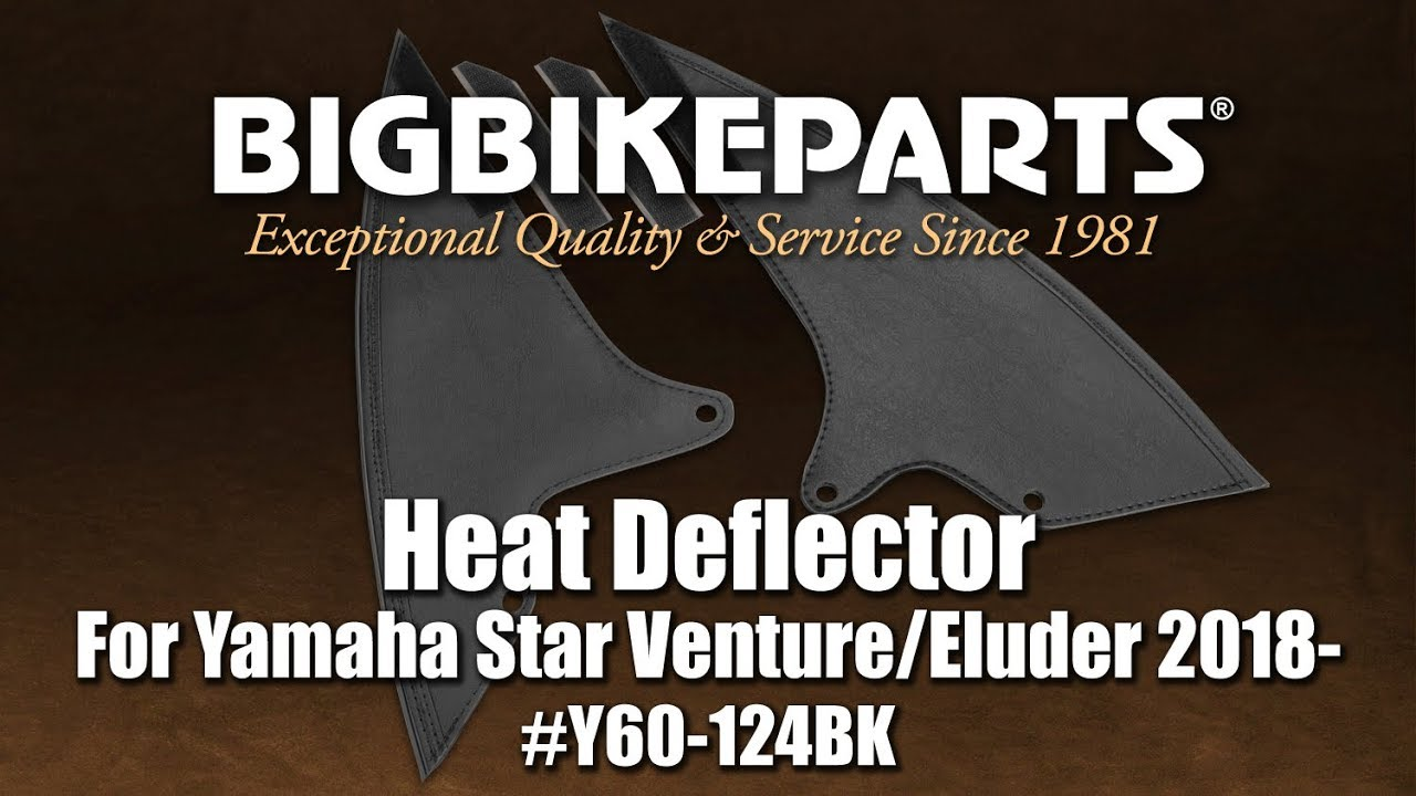 for Yamaha Star Venture//Eluder Hopnel Y60-124BK Heat Deflectors