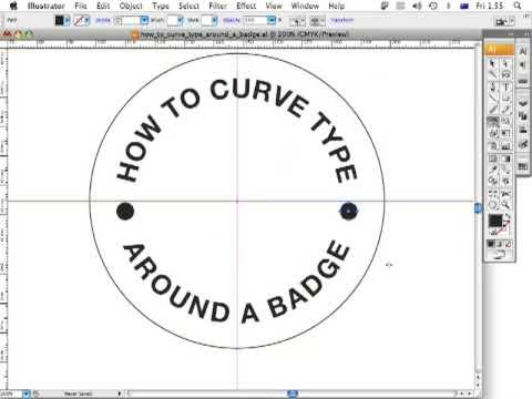 How do I create text around a circle to develop a logo?