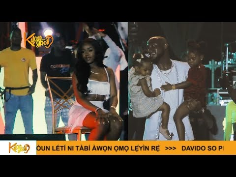 Davido brings Wife 'Chioma And His Cute Two Daughters On Stage At His Concert