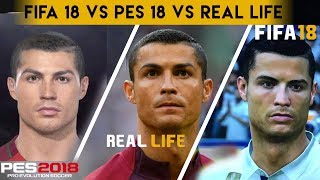 Fifa 18 vs pes 2018 vs real life comparison - ronaldo , griezmann , mbappé & more