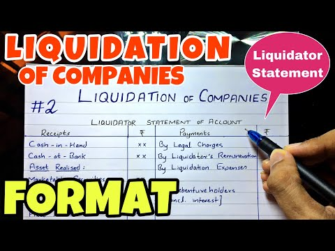 #2 Liquidation - Liquidator Statement of Account - Format -B