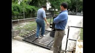 New Jersey Black Aluminum Driveway Gates. (800)576-5919