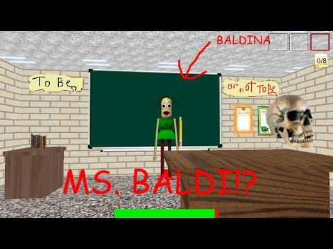 OH HI MS. BALDI! BALDINA! Baldina's Basis in Education Literary Grammar [Baldi Mod Fan Game]