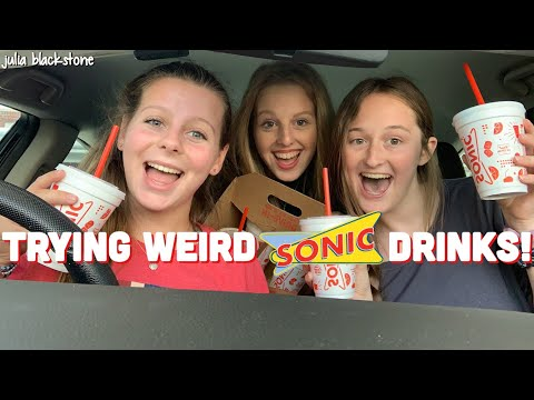 TRYING WEIRD SONIC DRINKS