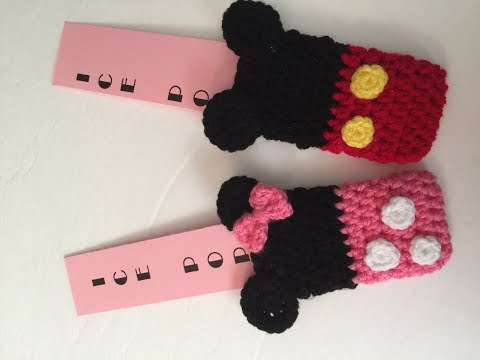Crocheted Minnie \u0026 Mickey Otter, Freezer, Ice Pop Cozy/ Cozies - Step by Step Tutorial