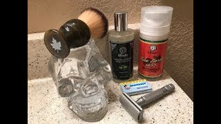 Canadian Shave-Rockwell 6S, Elvado Shave Soap and Aftershave, Shaverboy Blade & Maggard Brush