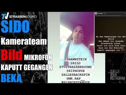 NEWS! SIDO | Bild Kamerateam auf dem Grundstück | Mikrofon kaputt gegangen | BEKA | TV Strassensound