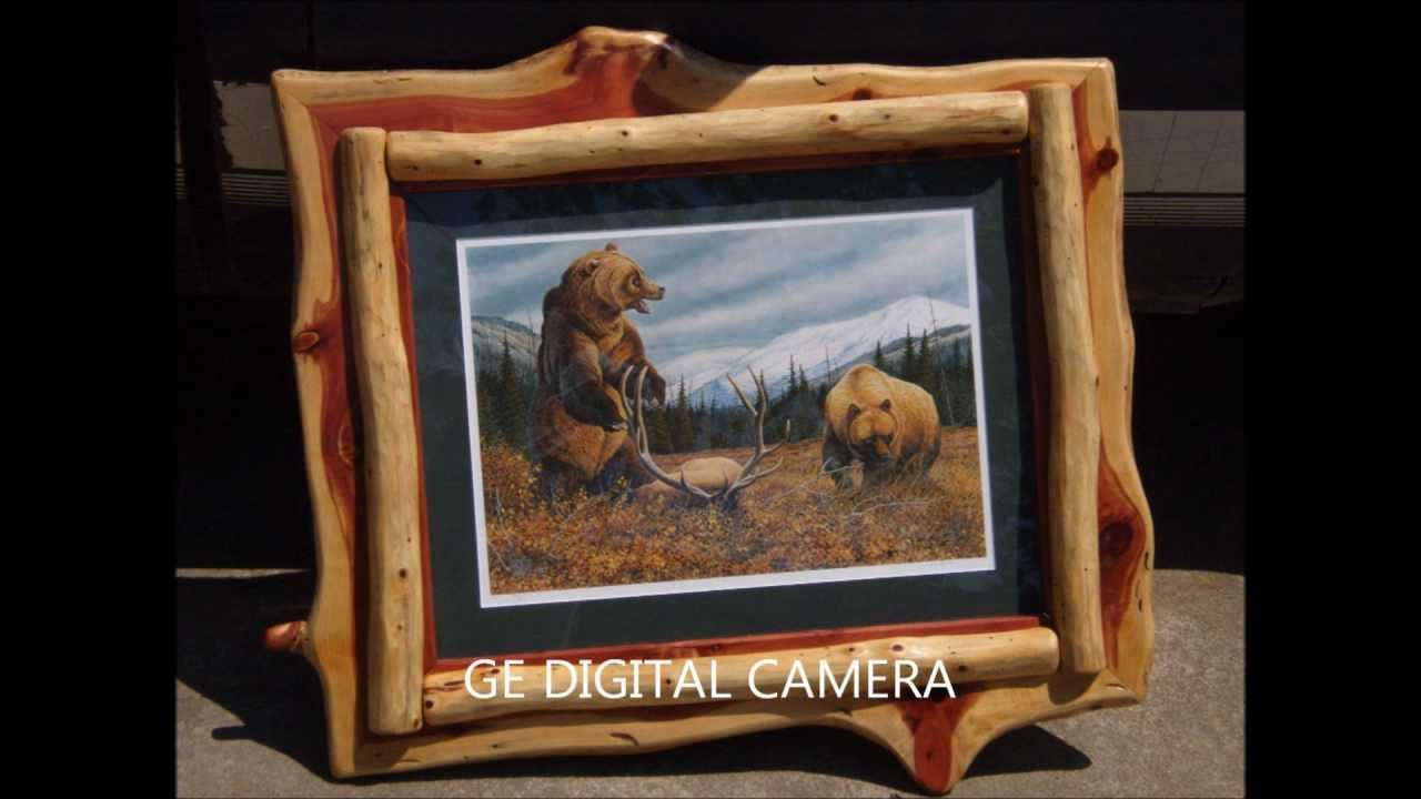 Rustic Log Furniture & Western Barnwood Picture Frames - YouTube