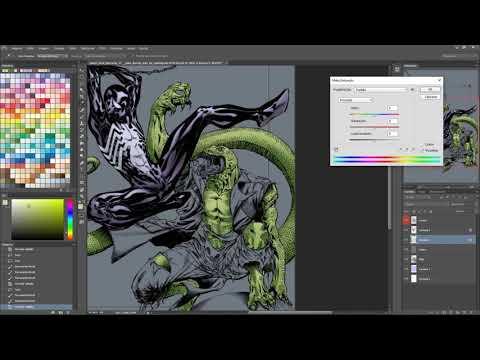 Coloring Spiderman VS Lizard - Renan Lino