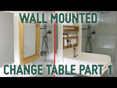 How I Built A Wall Mounted Change Table - part 1