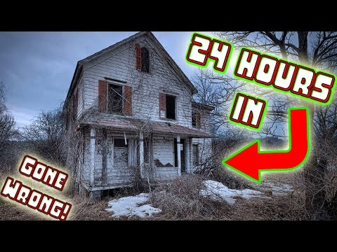 (ATTACKED) 24 HOUR OVERNIGHT CHALLENGE IN ABANDONED HAUNTED