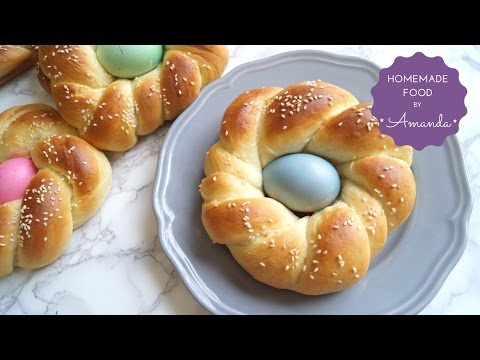 Easter bread - EASY Sweet Braided Bread with Easter Egg | Homemade Food by Amanda