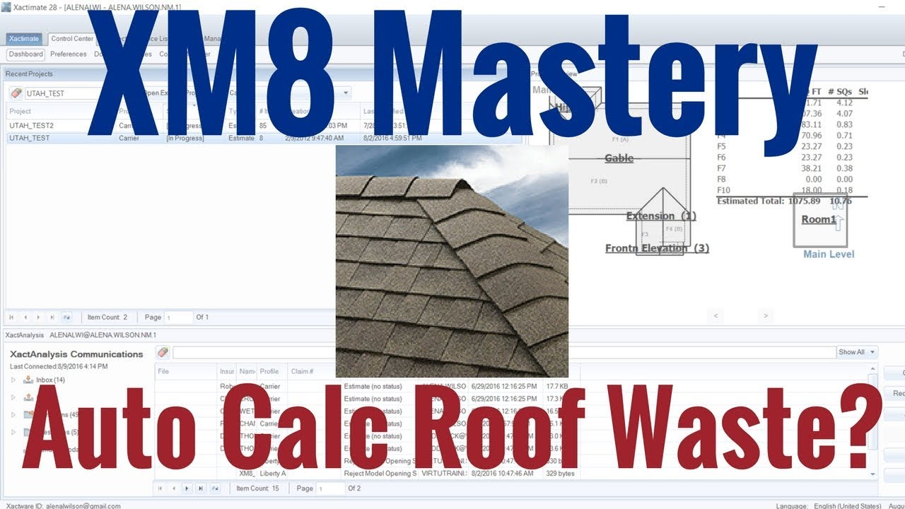Auto Calculate Roof Waste In Xactimate Youtube