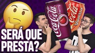 EXPERIMENTAMOS!!! Coca-Cola Vanilla e Coca-Cola Cherry - EP. 014