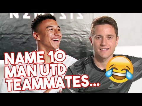 Name 10 Man Utd teammates! | Ander Herrera & Jesse Lingard take the 10in10 Challenge