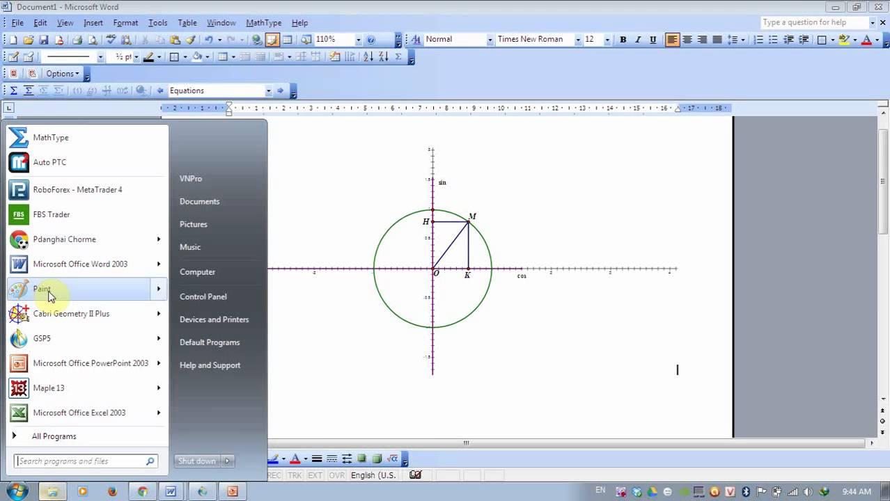 Hướng dẫn chuyển hình vẽ từ Sketchpad sang word và powerpoint
