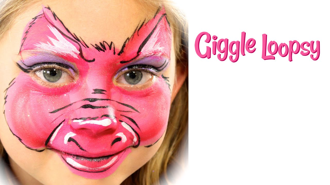 one stroke pig face paint tutorial by giggle loopsy youtube