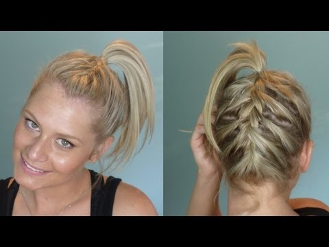 Double French Braid Ponytail Youtube