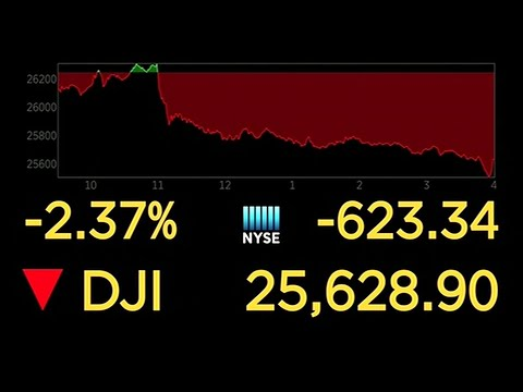 US stocks fall sharply as trade war escalates