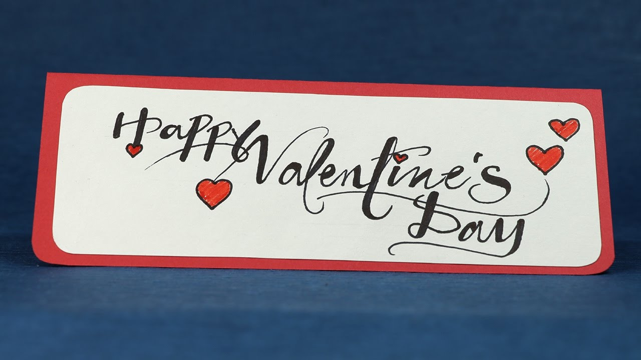 Happy Valentine S Day Card Easy Diy Valentine Card Step By Step Tutorial