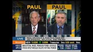 Ron Paul vs. Paul Krugman on Bloomberg TV - April 30, 2012