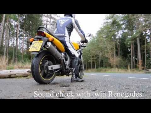 Suzuki SV650 with twin Renegade exhausts