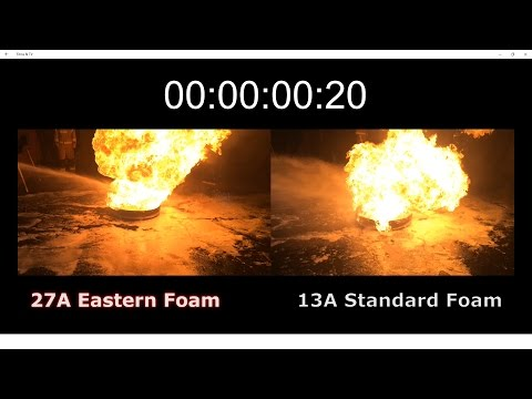 Eastern Extinguishers - Foam comparison test