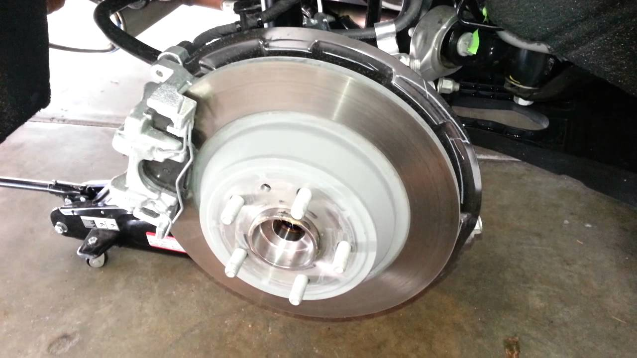 2017 Ford Fusion Anium Sedan Checking Rear Brakes Caliper Bracket Rotor Pads