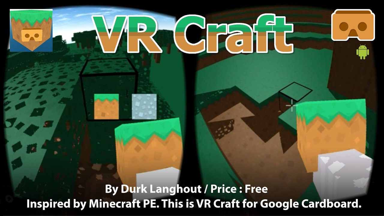 VR Craft Inspired By Minecraft PE This Is VR MineCraft For Google - Minecraft headset spielen