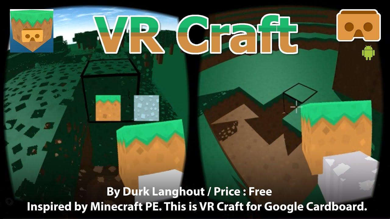 VR Craft Inspired By Minecraft PE This Is VR MineCraft For Google - Minecraft headset spielen