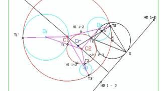 DIBUJA GARLO circunferencias tangentes a 3 circunferencias