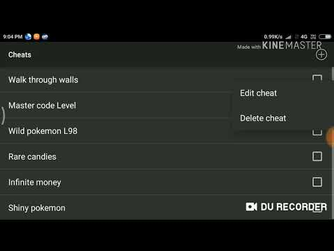 Cheat Code For Pokemon Light Platinum Of GBA In My Boy Emulator