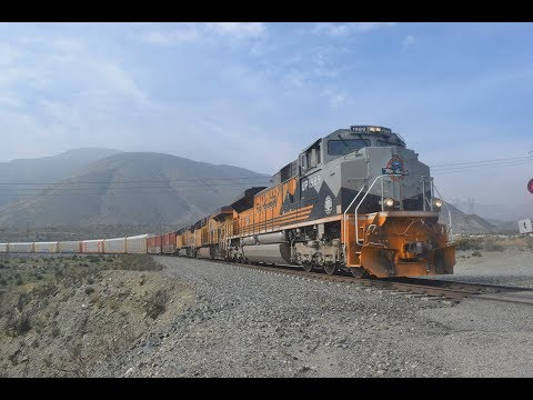 2-10-18!! Railfanning Cajon Pass & Riverside!! Featuring TWO UP heritage units and MORE!
