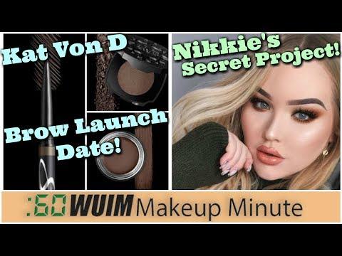 LOTS Of New Coming from Kat Von D! Nikkie Tutorial's Secret Project!   Makeup Minute