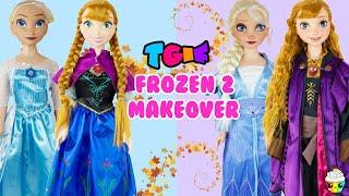 TGIF 3 Foot Doll GIANT Frozen 1 Elsa Anna Frozen 2 DIY Fun Makeover