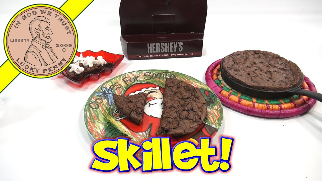 Hersheys Cast Iron Skillet Brownie Christmas Gift Set Brownies For Santa Youtube