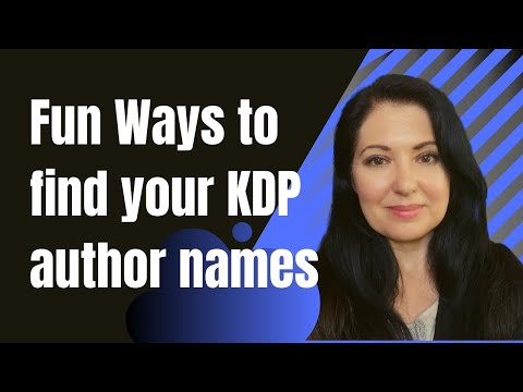 Easy Ways To Find Your KDP Low Content Book Author Name