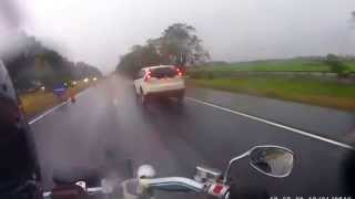Riding in the rain on a Wildstar XV1600 in North Luzon Expressway (NLEx)