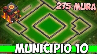 CLASH OF CLANS : BEST BASE TH10 (TROPHY, FARMING, WAR) - 275 Muri