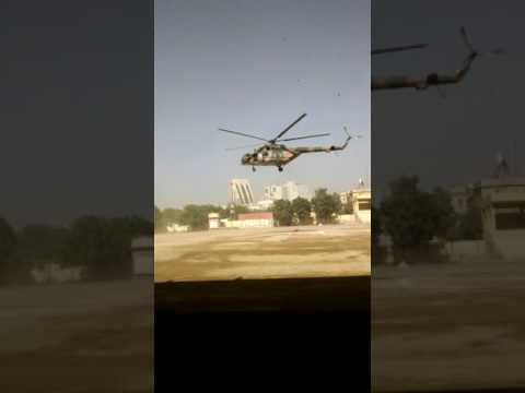 Helicopter landed on govt college of commerce and economics boys college karachi