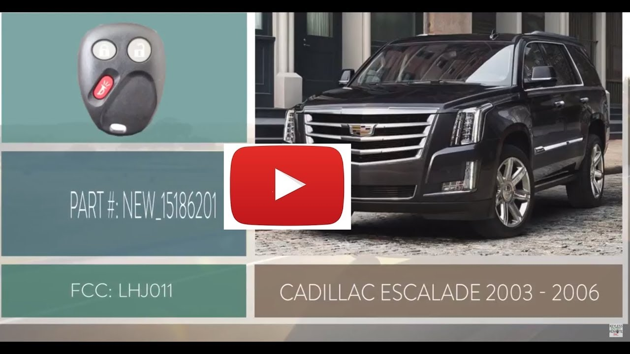 How To Replace A Cadillac Escalade Key Fob Battery 2003 2006 Youtube