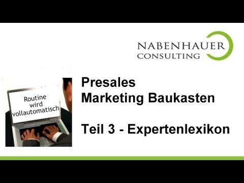 So erstellen Sie Ihr Expertenlexikon - Reputation inkl. - Teil 3 des PreSales Marketing Baukastens