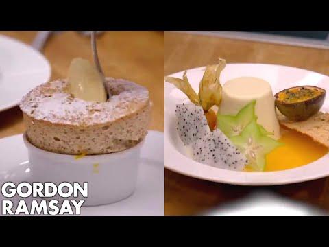 Gordon Ramsay's Soufflé vs Gino D'Acampo's Panna Cotta