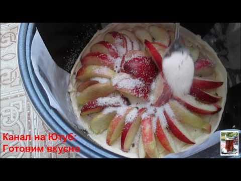 Пирог с нектаринами в мультиварке