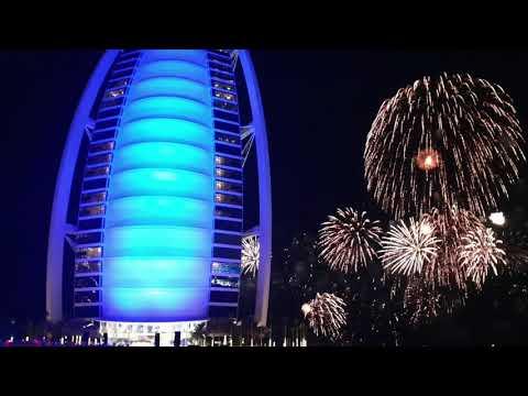 Burj Al Arab 2020 New Year Fireworks 🎆