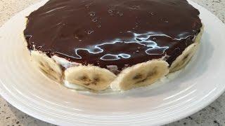 Диетический шоколадно-банановый торт. Фитнес выпечка.